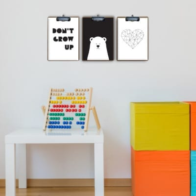Photo of space for children with colorful toys